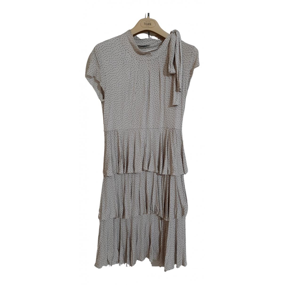 Max & Co \N Kleid in  Beige Viskose