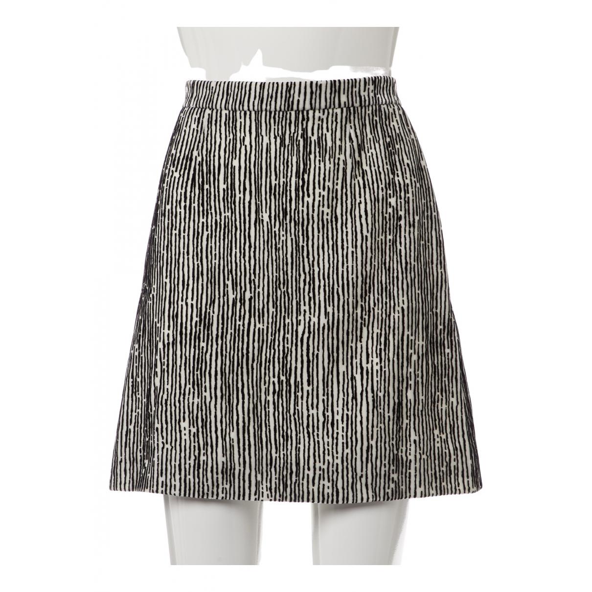 Balenciaga \N White Velvet skirt for Women 38 FR