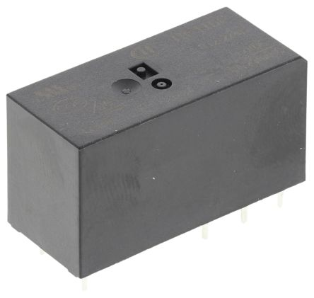 RS PRO , 12V dc Coil Non-Latching Relay DPDT, 8A Switching Current PCB Mount, 2 Pole