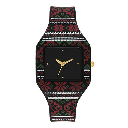 Mixit Womens Black Strap Watch, One Size , No Color Family