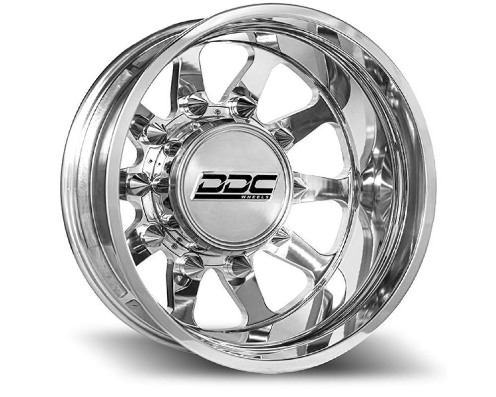 DDC Wheels 02PL-210-28-13 The Ten Dually Wheel Kit 22X8.25 8X210 154.2Cb 13.50 Tire Polished Silverado|Sierra 2011-2020