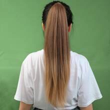 1pc Natural Long Straight Ponytail Hair