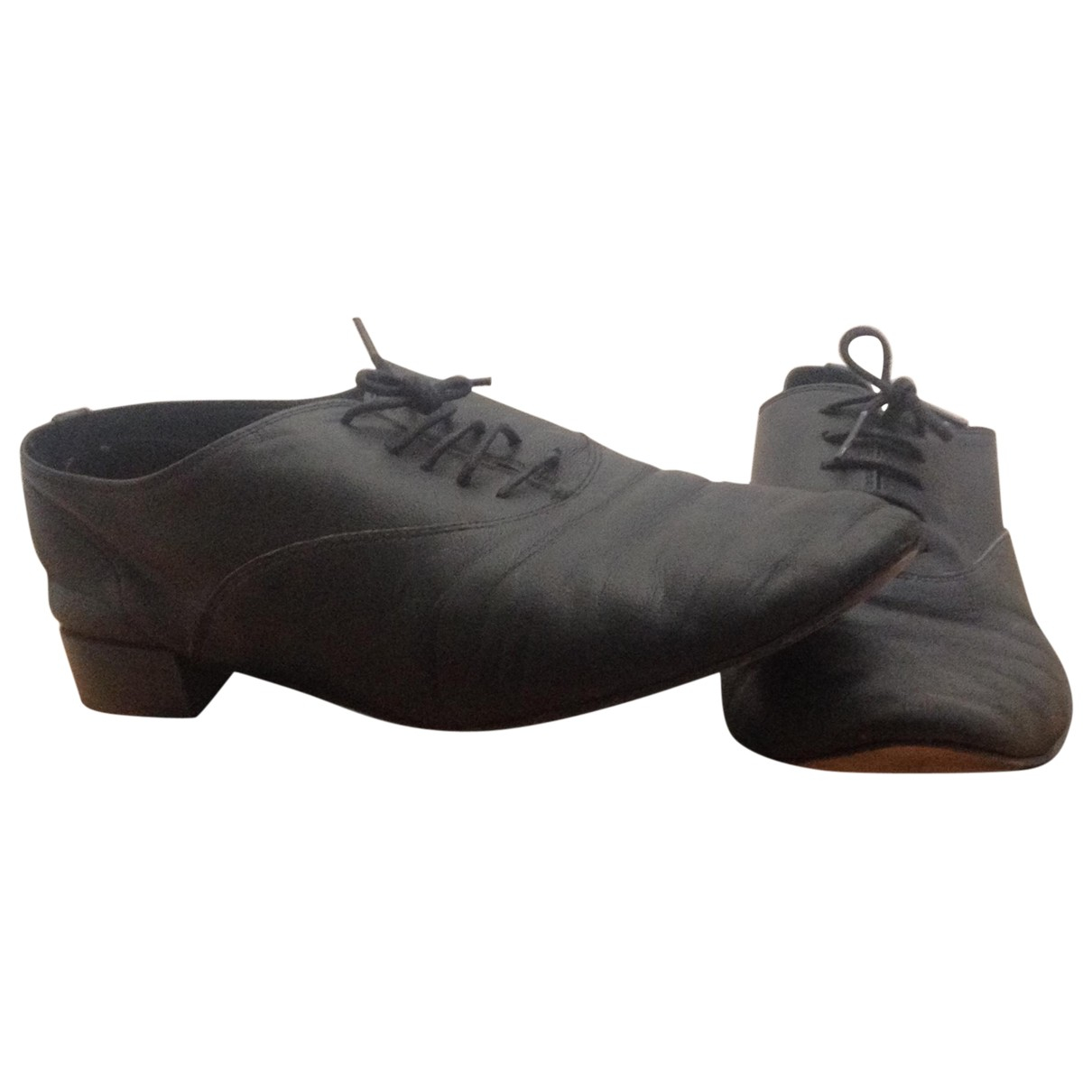 Repetto \N Black Leather Lace ups for Women 41 EU
