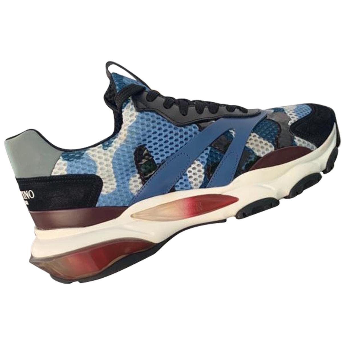 Valentino Garavani \N Sneakers in  Blau Polyester