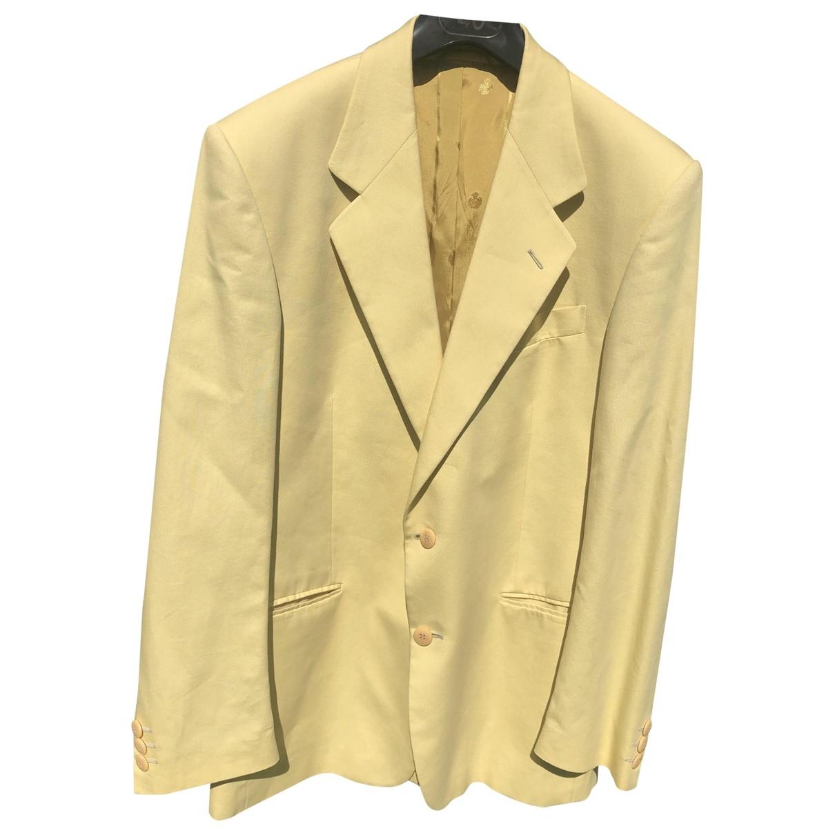 Valentino Garavani \N Jacke in  Gelb Baumwolle