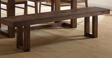 Lidgerwood CM3358A-BN Bench with Wood Knot Style and Plank Details in Dark Oak