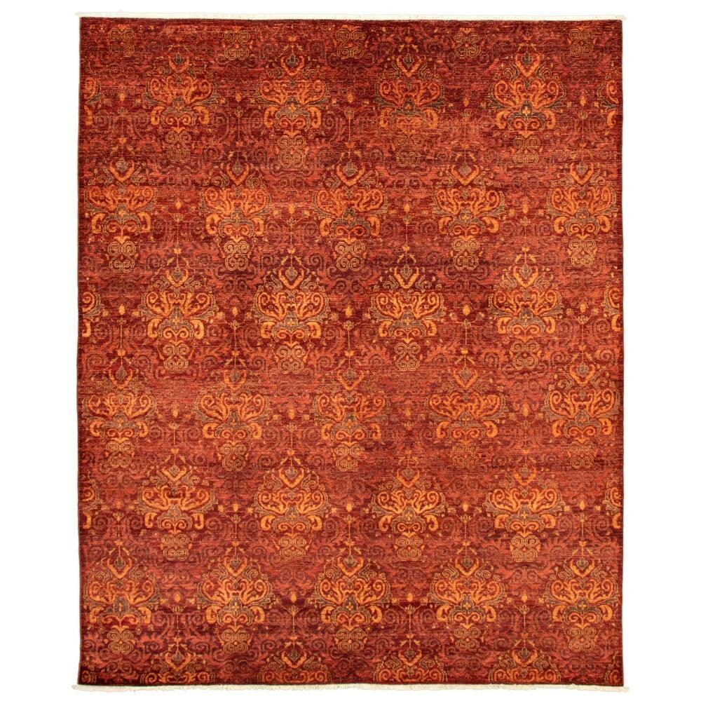 ECARPETGALLERY  Hand-knotted Pak Finest Red Wool Rug - 8'0 x 9'9 (8'0 x 9'9 - Dark Red)