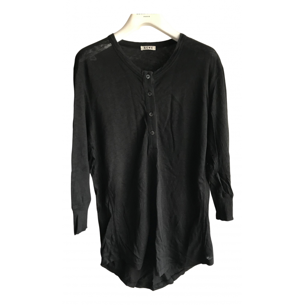 Acne Studios N Black Linen  top for Women XS International