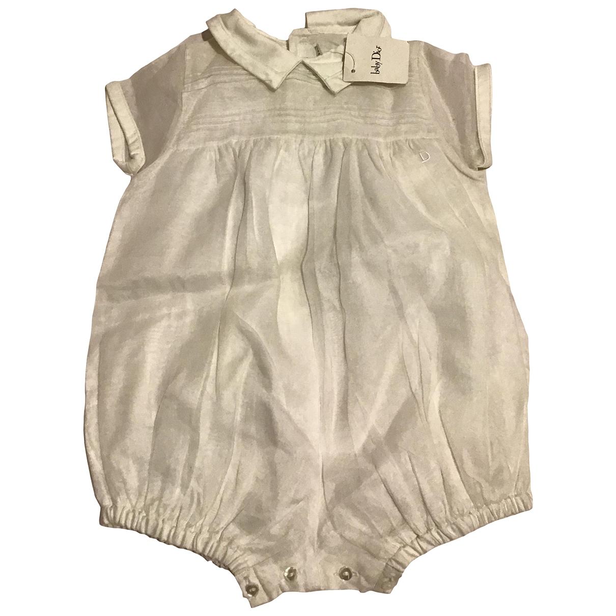 Dior - Robe    pour enfant en coton - blanc