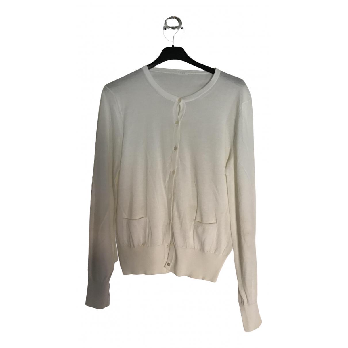 Malo \N White Cotton  top for Women 44 IT
