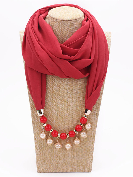 Milanoo Woman Scarf Fringe Polyester Scarf