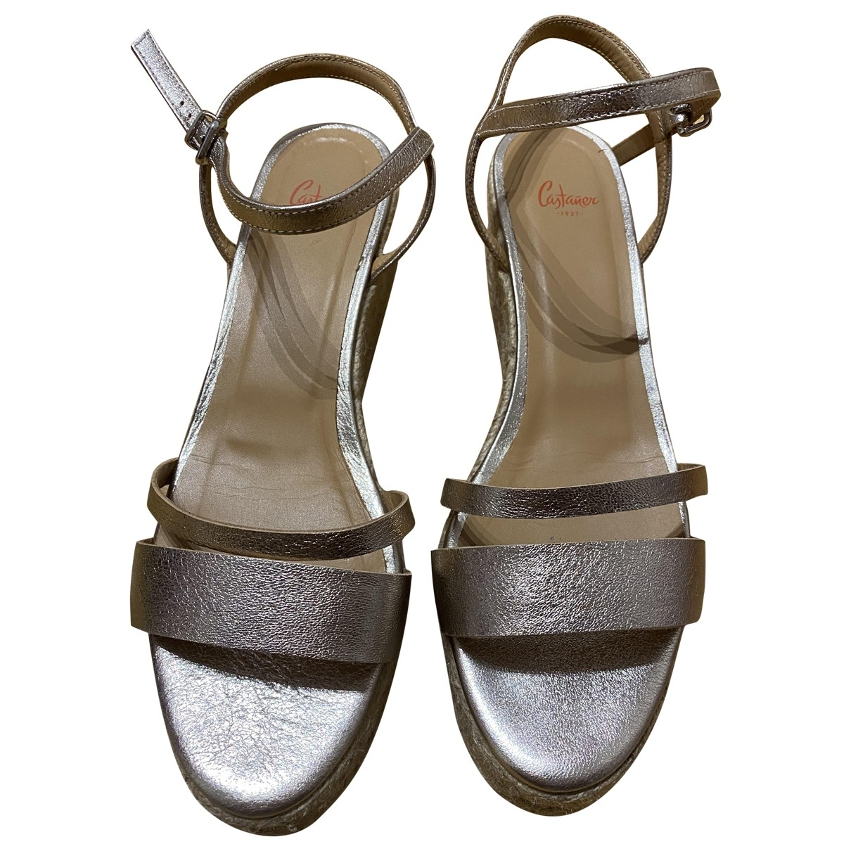 Castaner \N Silver Fur Sandals for Women 40 EU
