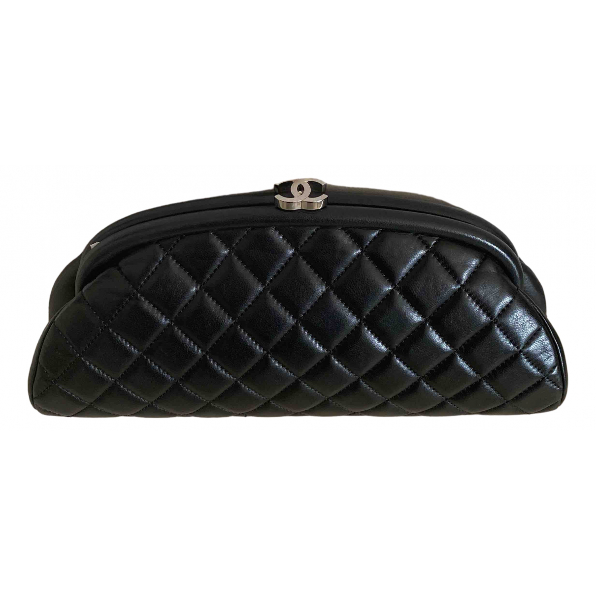 Chanel Mademoiselle Black Leather Clutch bag for Women \N