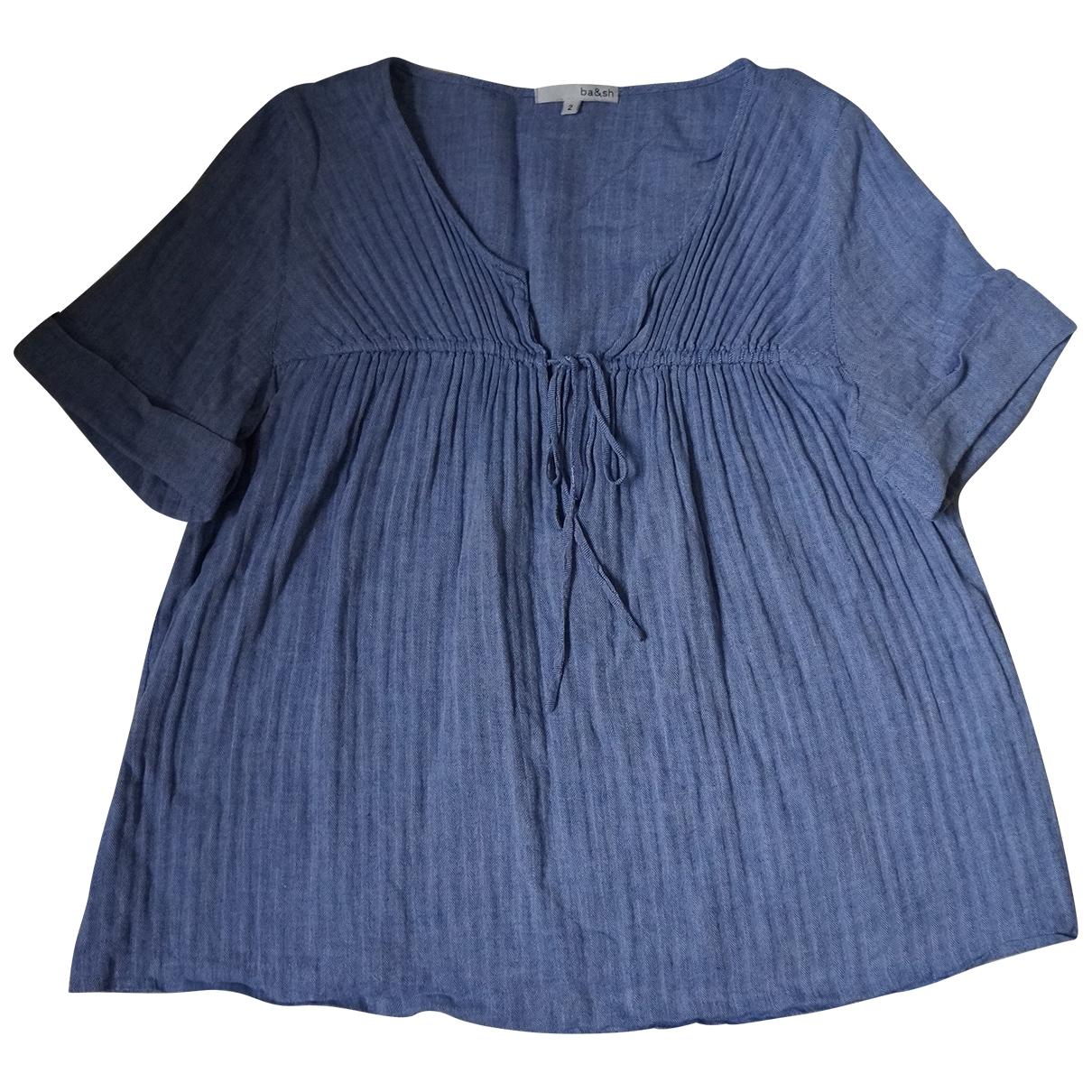 Ba&sh - Top   pour femme en coton - bleu
