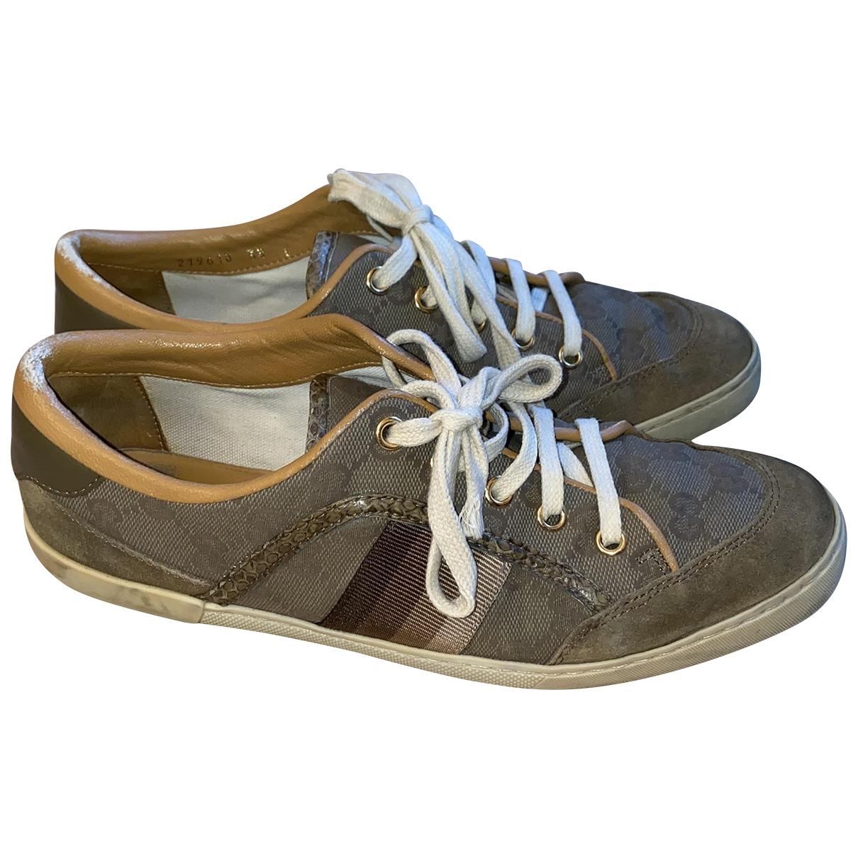 Gucci \N Sneakers in  Grau Leinen