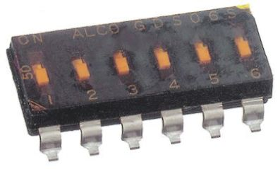 TE Connectivity DIP switch,PCB,SPST,2 positions,slide