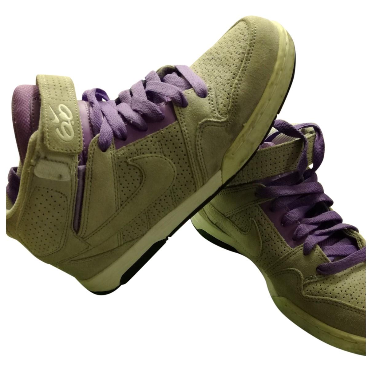 Nike - Baskets   pour femme en suede - gris