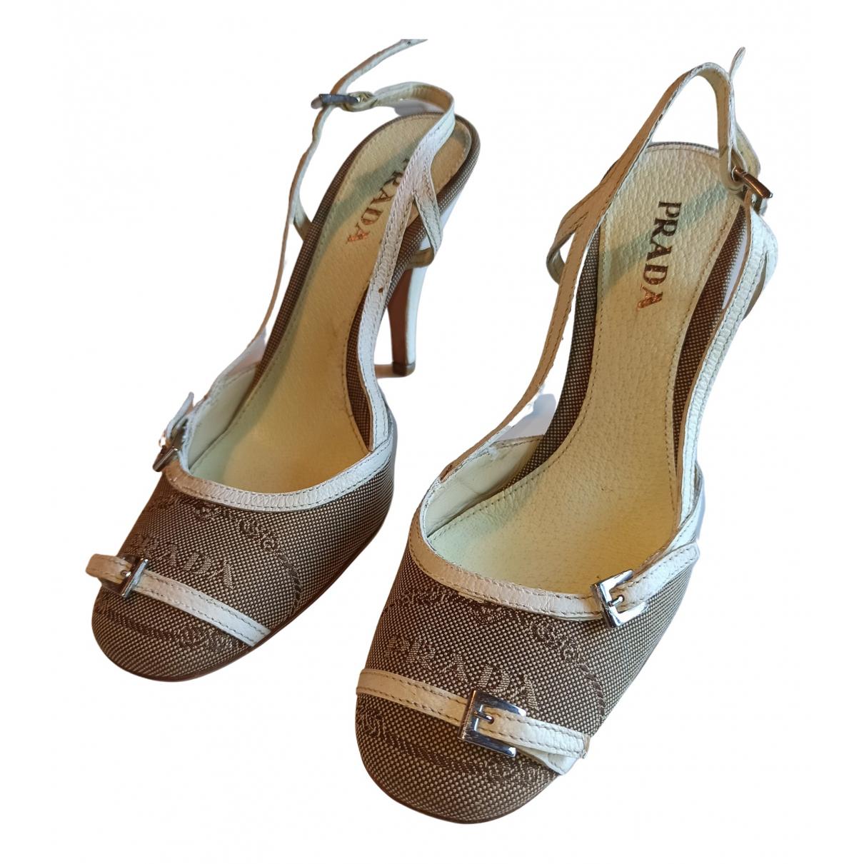 Prada \N Brown Cloth Sandals for Women 36 EU