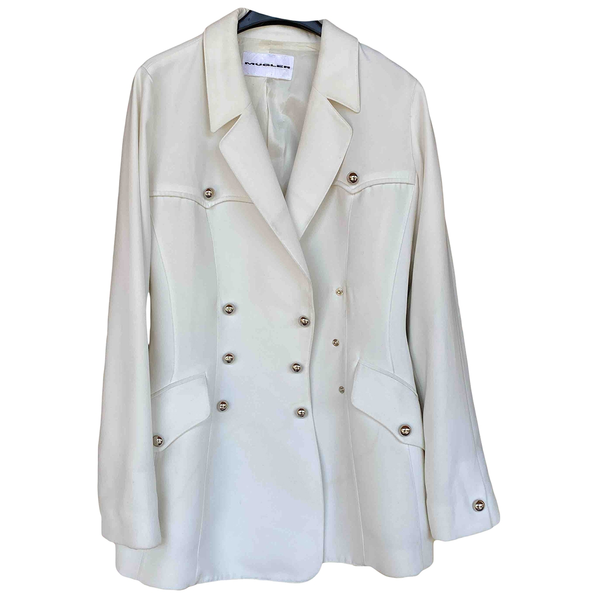 Thierry Mugler \N Jacke in  Weiss Polyester