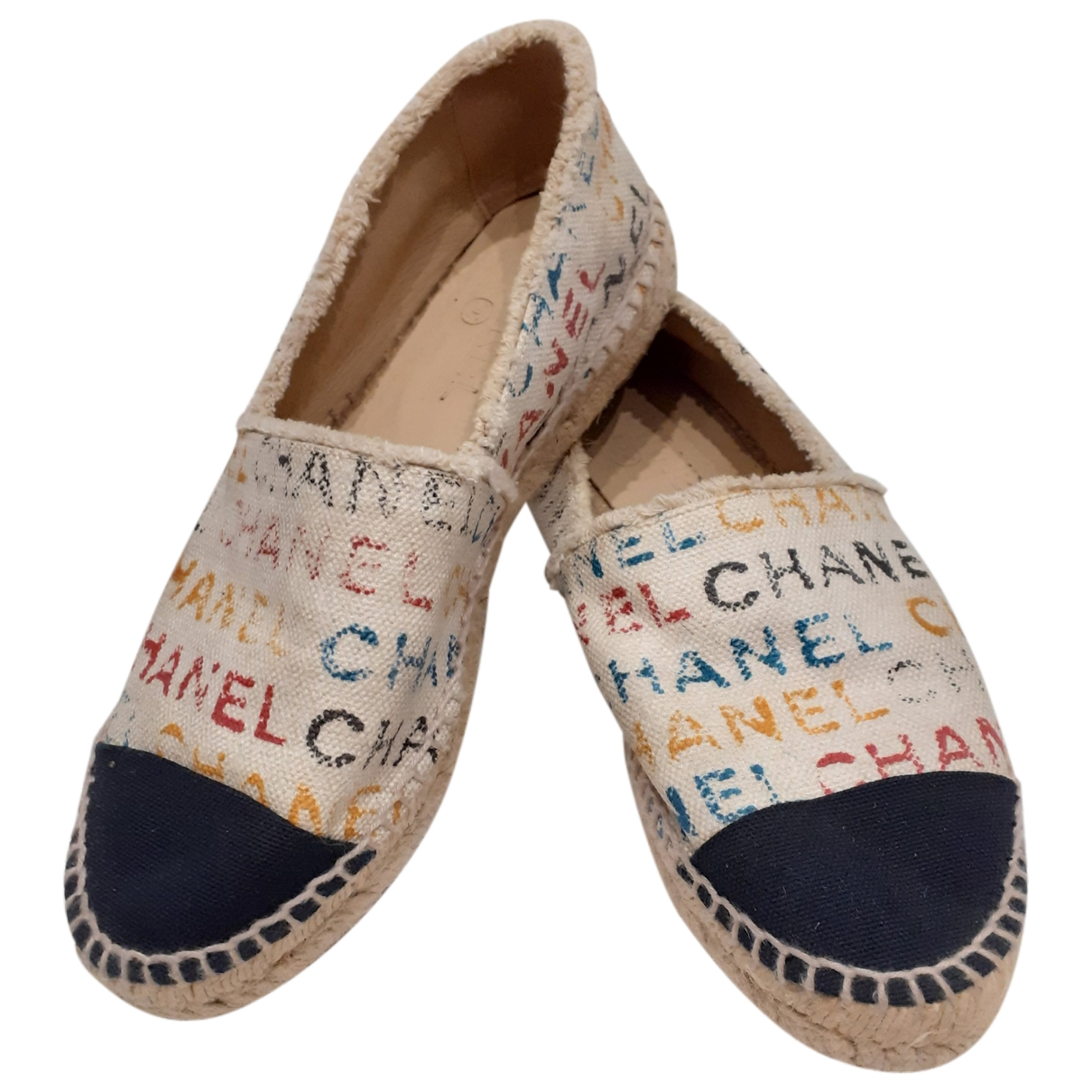 Chanel \N Espadrilles in  Bunt Leinen