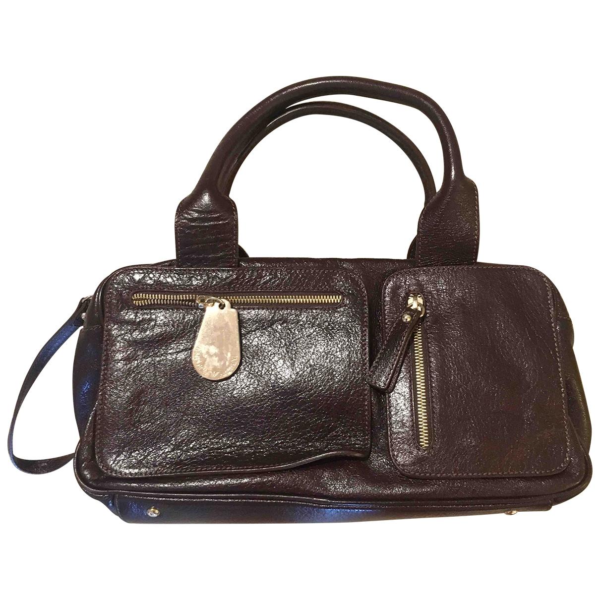 Emporio Armani \N Handtasche in  Braun Leder