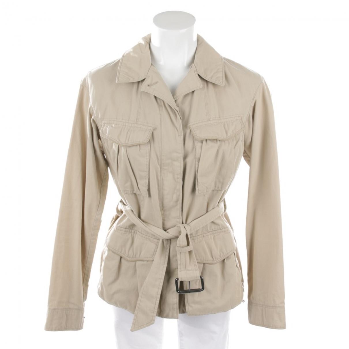 Moncler \N Beige Cotton jacket for Women 36 FR