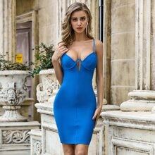 Sesidy Cut-out Bustier Bandage Dress