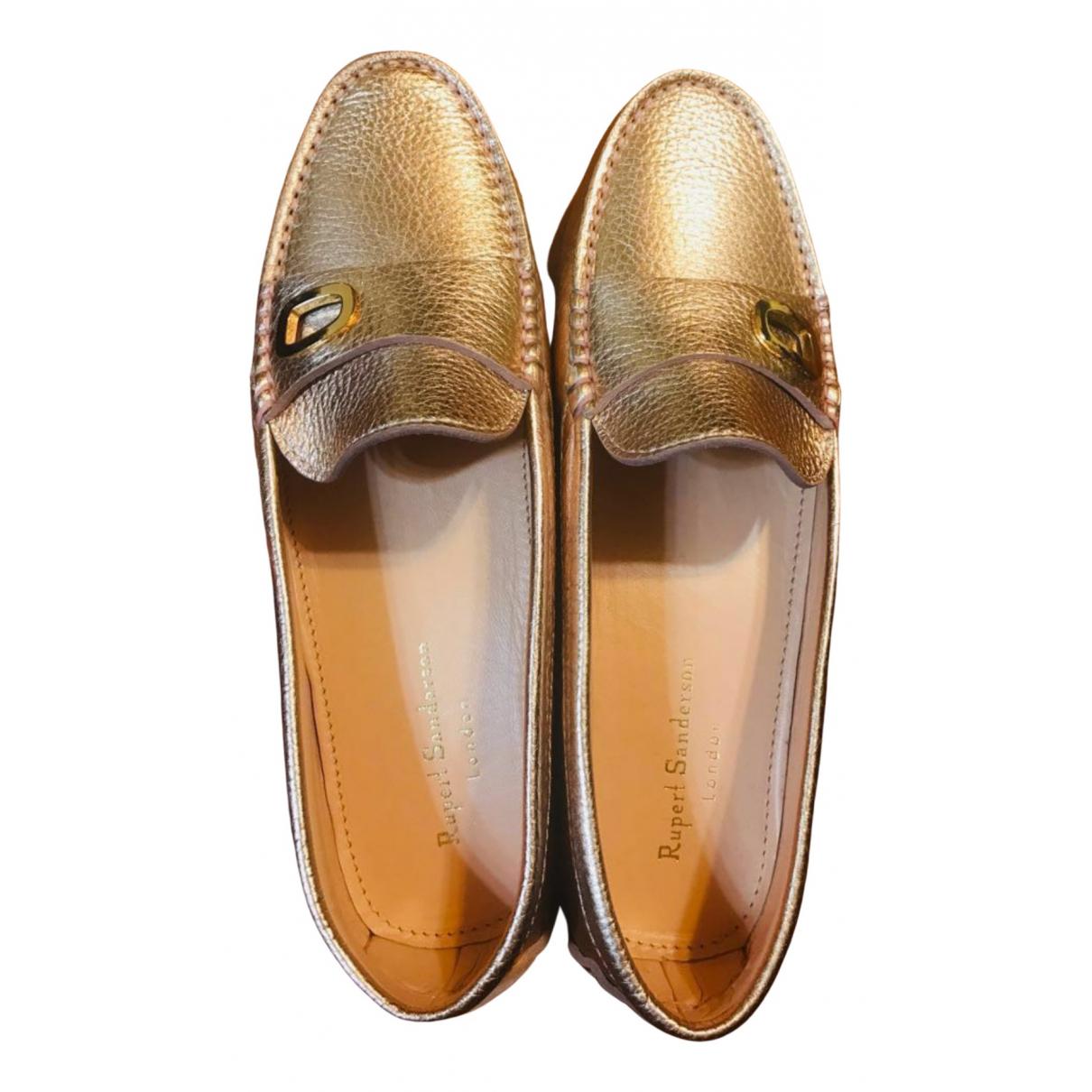 Rupert Sanderson \N Metallic Leather Flats for Women 39.5 EU