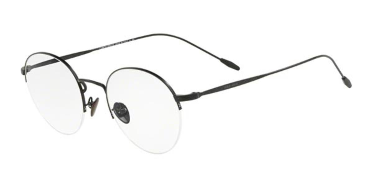 Giorgio Armani AR5079 3001 Mens Glasses Black Size 48 - Free Lenses - HSA/FSA Insurance - Blue Light Block Available