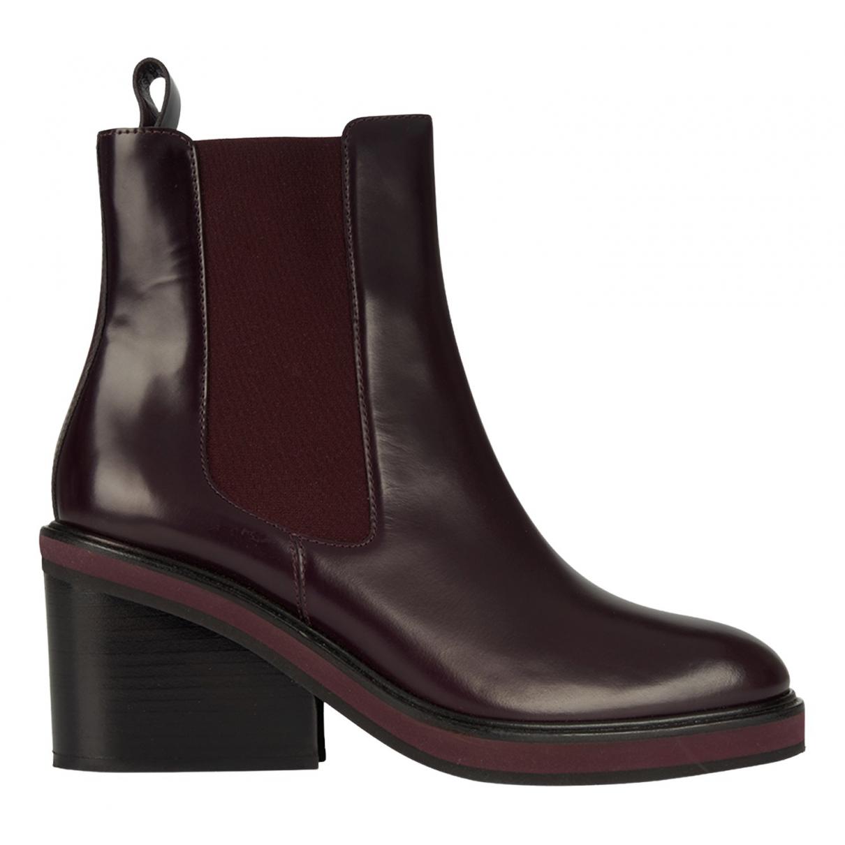 Hermes - Boots   pour femme en cuir - marron