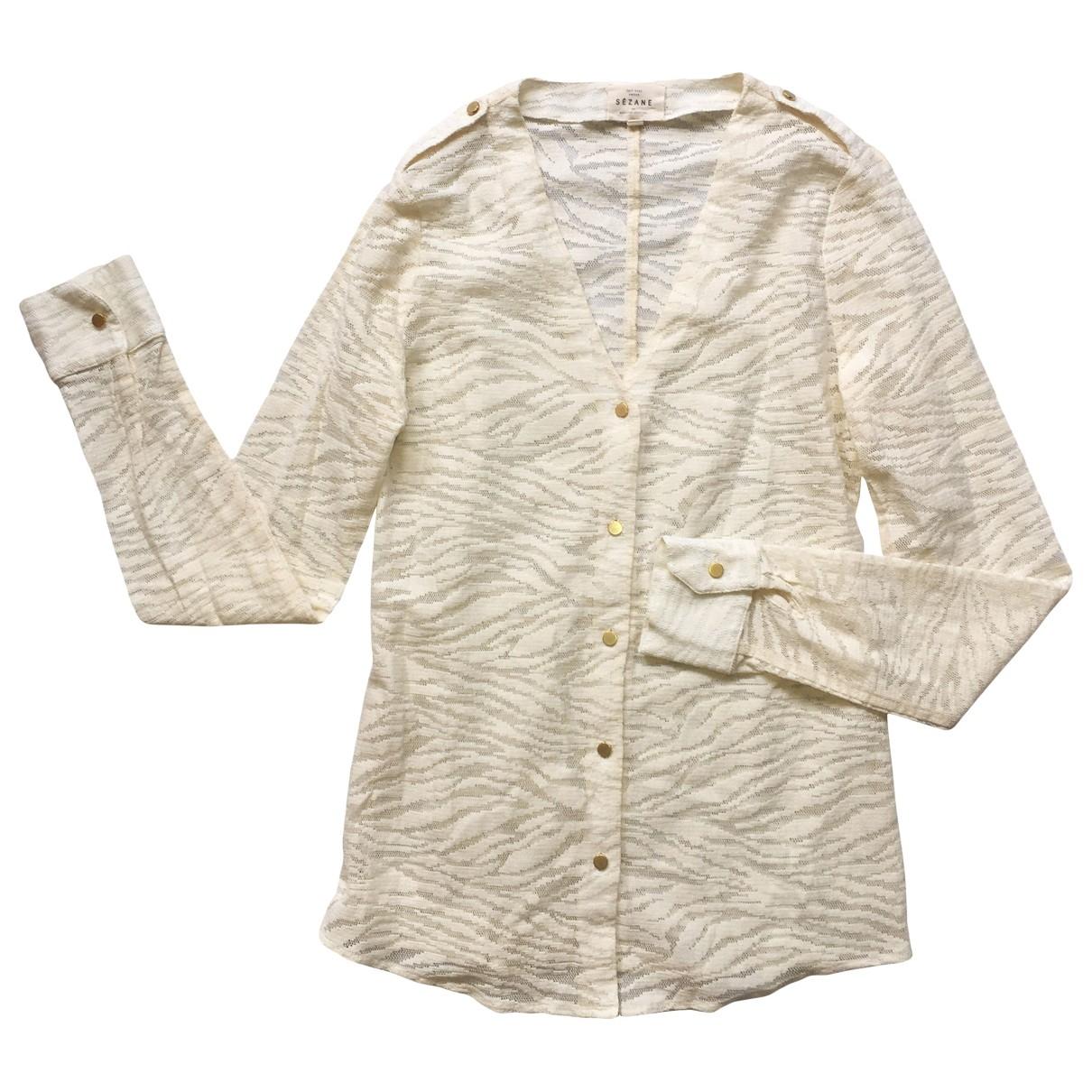 Sézane \N White Lace  top for Women 36 FR