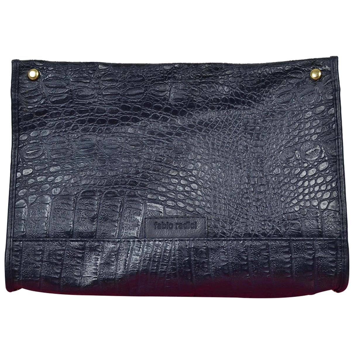 Non Signe / Unsigned \N Handtasche in  Blau Synthetik