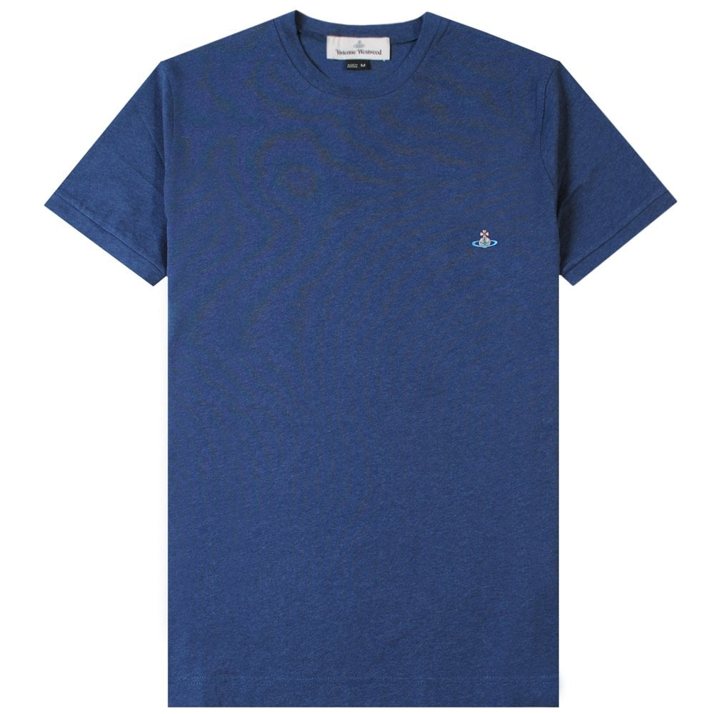 Vivienne Westwood Classic Orb Logo T-Shirt Colour: NAVY, Size: EXTRA EXTRA EXTRA LARGE