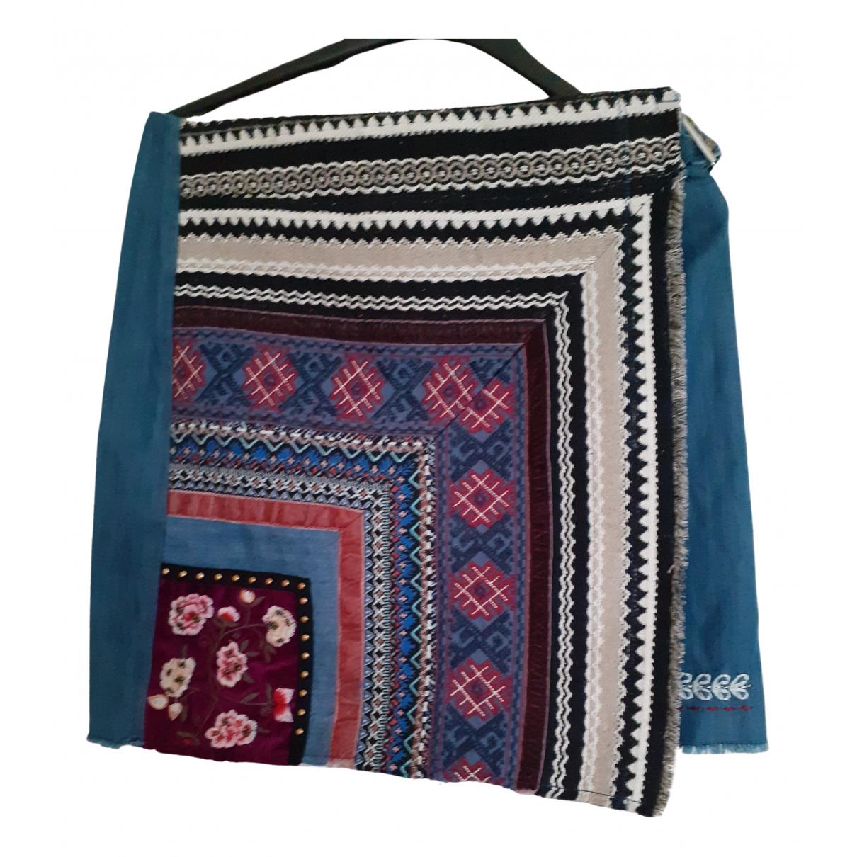 Desigual - Jupe   pour femme en coton - elasthane - bleu