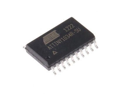 Microchip ATTINY1634R-SU, 8bit AVR Microcontroller, AVR, 12MHz, 16 kB Flash, 20-Pin SOIC (5)