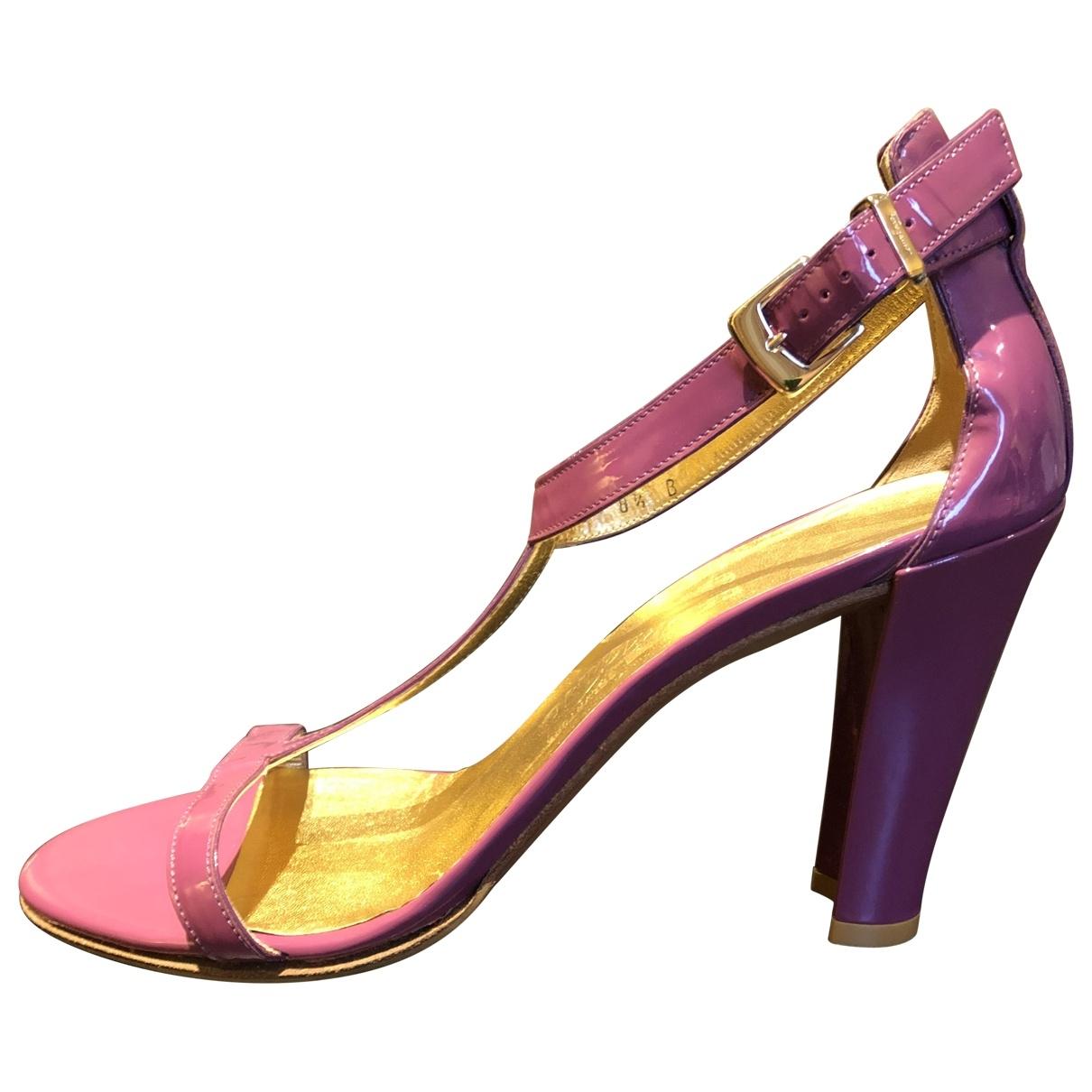 Salvatore Ferragamo - Sandales   pour femme en cuir verni - violet