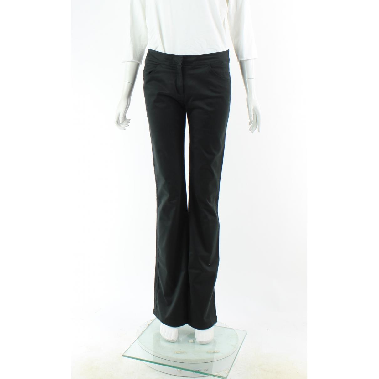 Joseph \N Black Cotton Trousers for Women M International