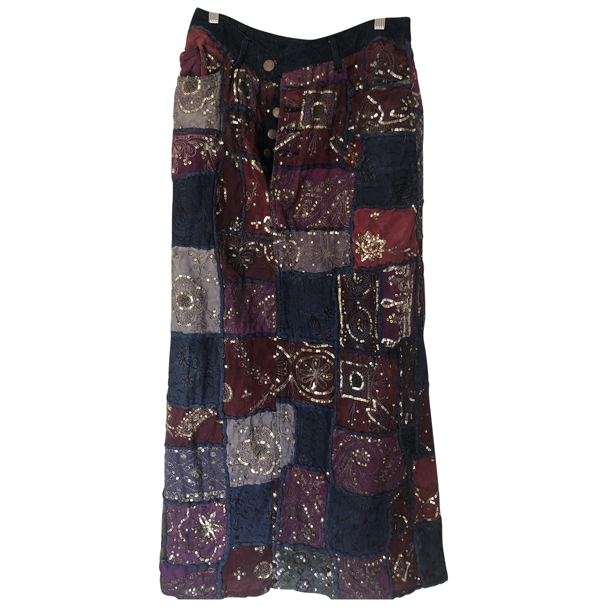 Jean Paul Gaultier \N Multicolour Denim - Jeans skirt for Women L International