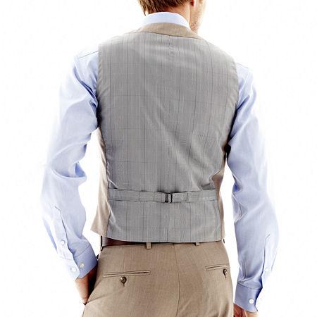JF J. Ferrar End on End Suit Vest - Slim Fit, Large , Brown