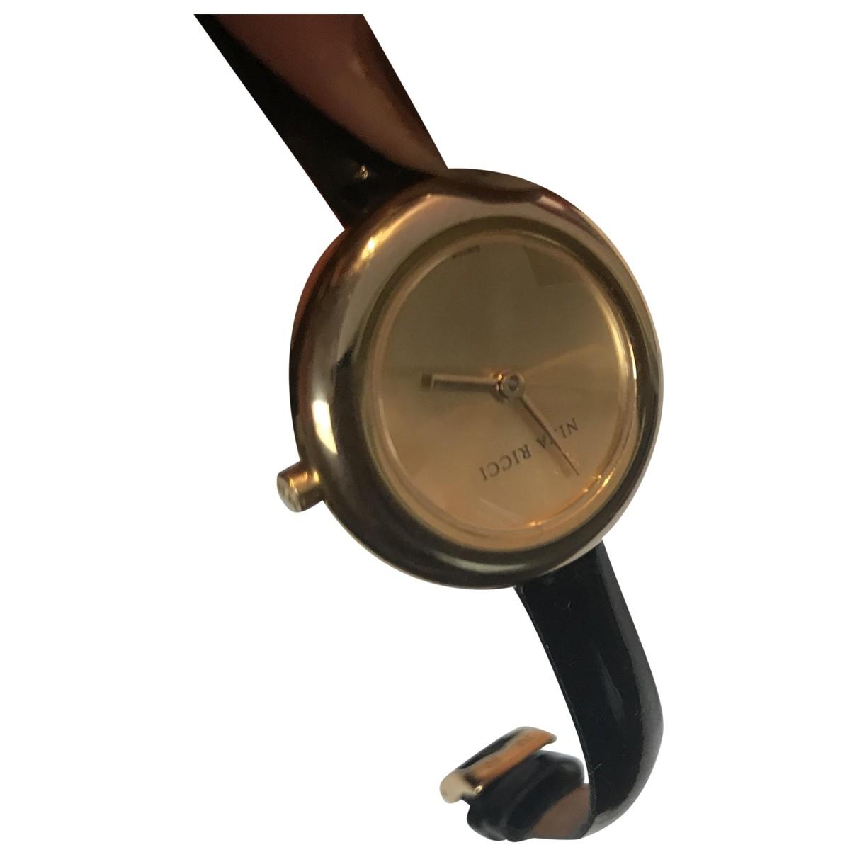 Nina Ricci \N Gold Gold plated watch for Women \N