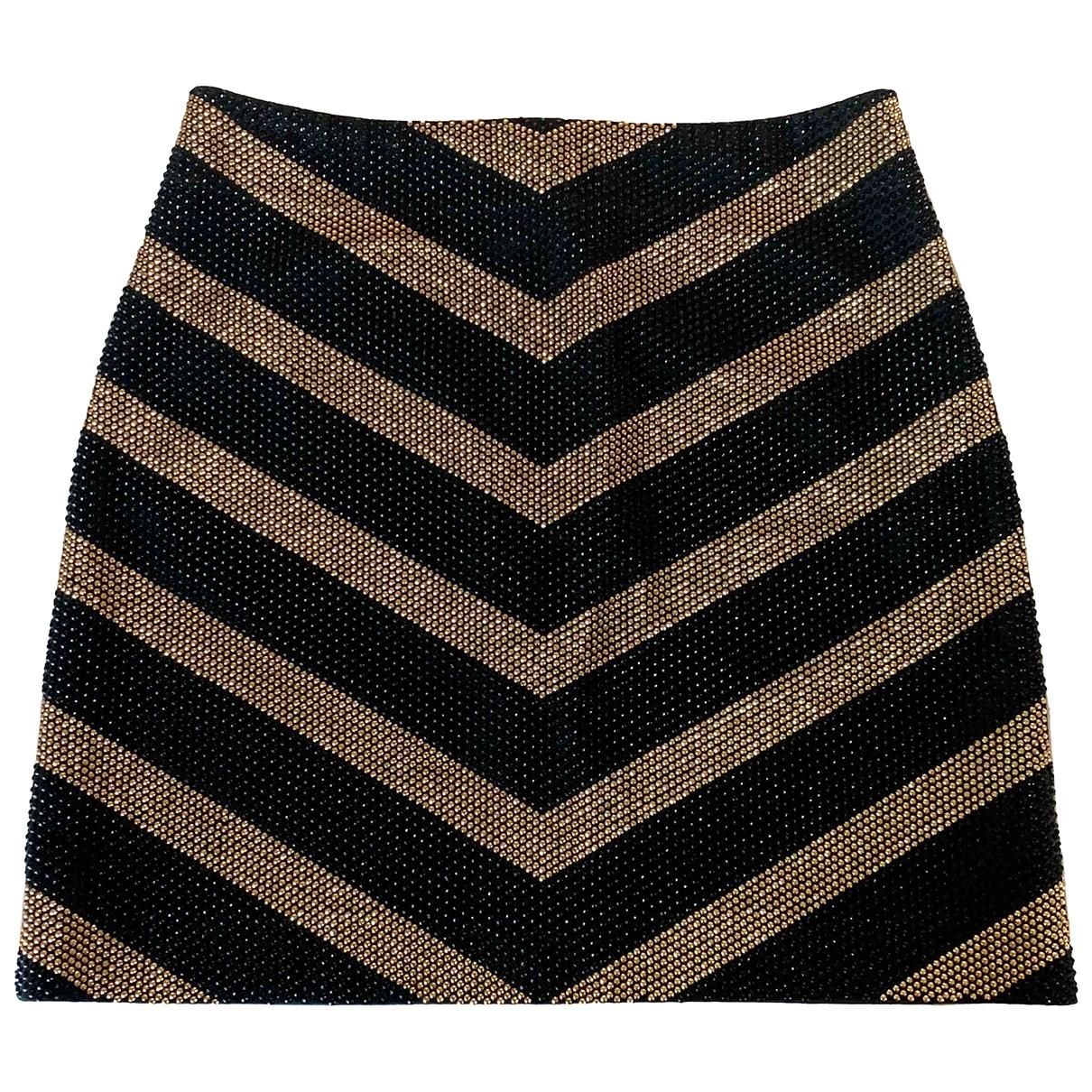 Balmain \N Black Cotton - elasthane skirt for Women 38 FR
