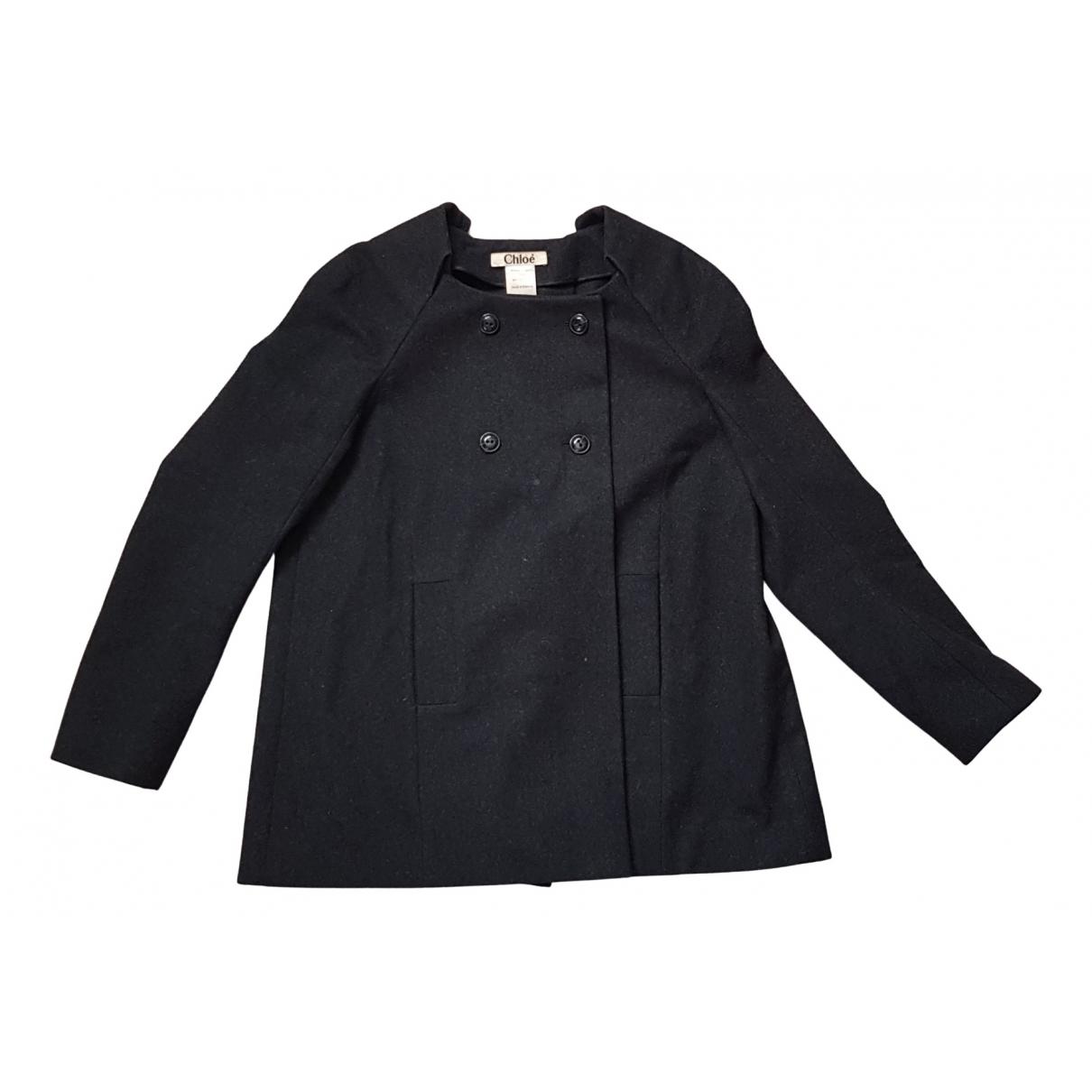 Chloe - Manteau   pour femme en laine - anthracite