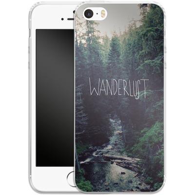 Apple iPhone SE Silikon Handyhuelle - Wanderlust - Rainier Creek von Leah Flores
