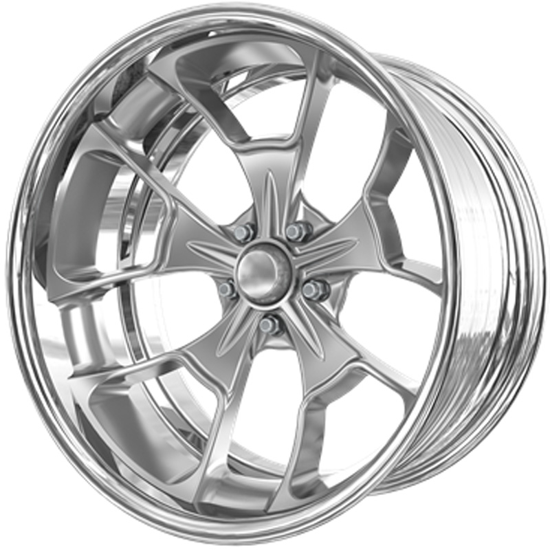 Billet Specialties VDR66C225Custom Reaper Extreme Brushed Clear Coat 22x10.5 Wheel