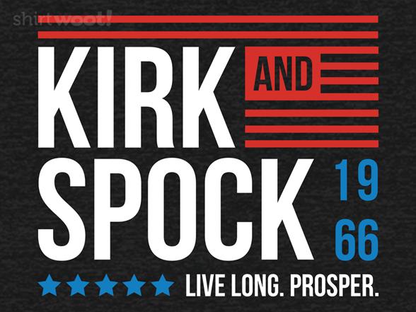 Kirk & Spock 1966 T Shirt