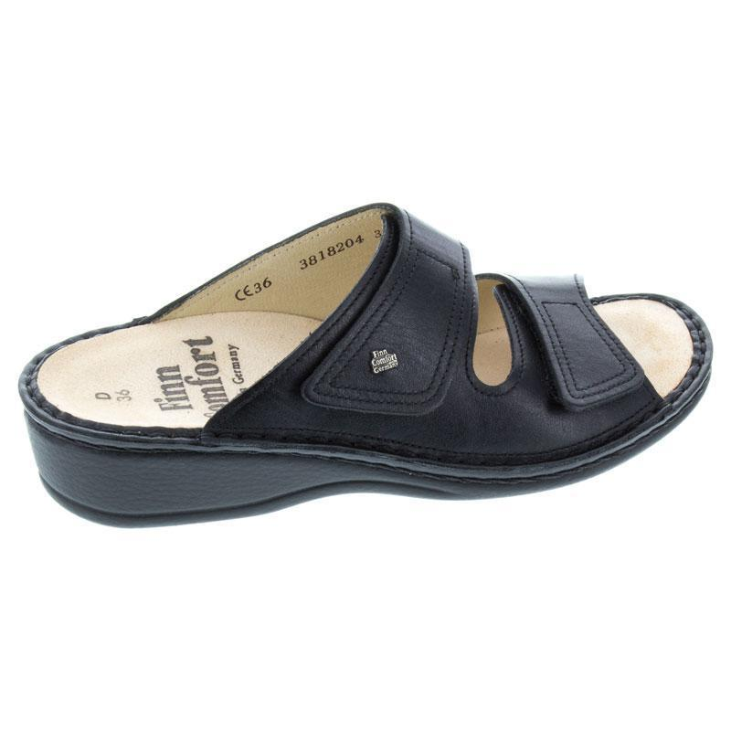 Finn Comfort Jamaica Black Leather Soft Footbed 38