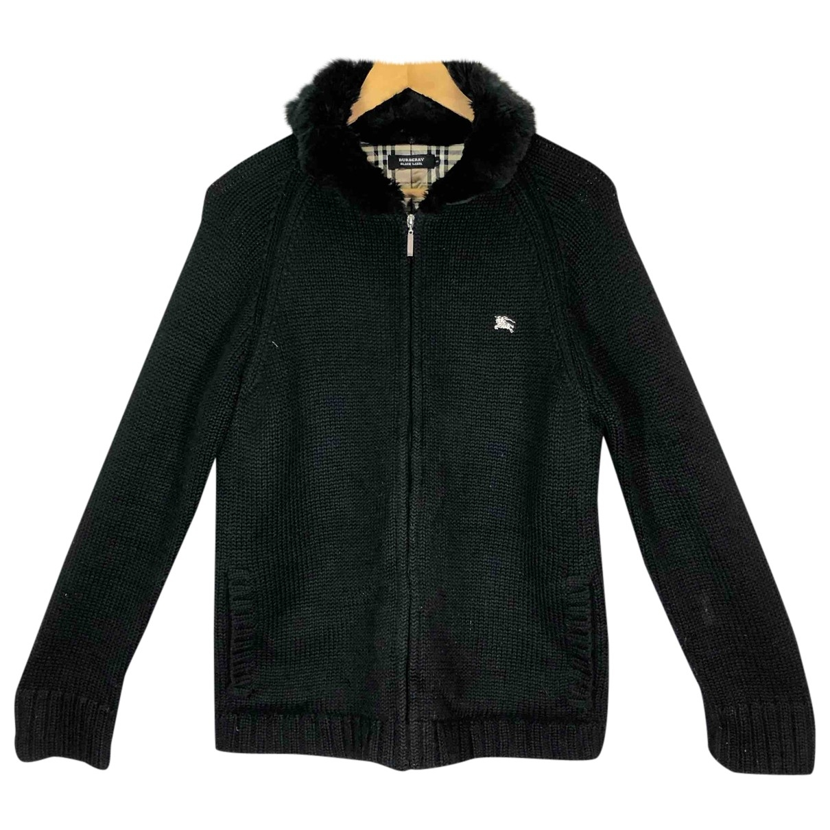 Burberry \N Jacke in  Schwarz Wolle