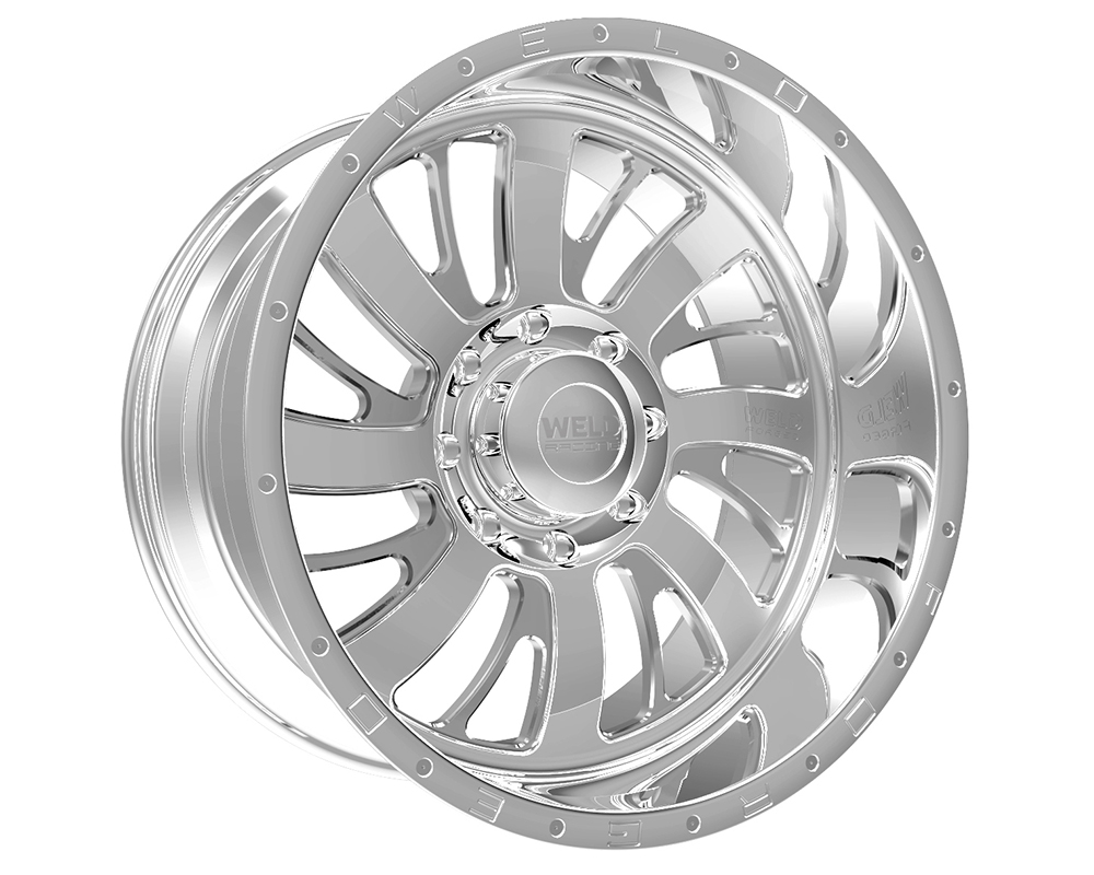 Weld Racing 81A1-24262-518L XT Falkata 24x12 6x120 -51mm Polished Lip w/Text