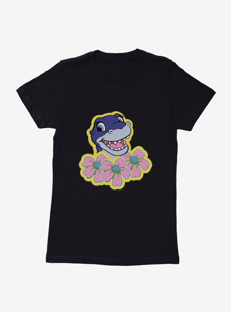 The Land Before Time Chomper Flowers Womens T-Shirt