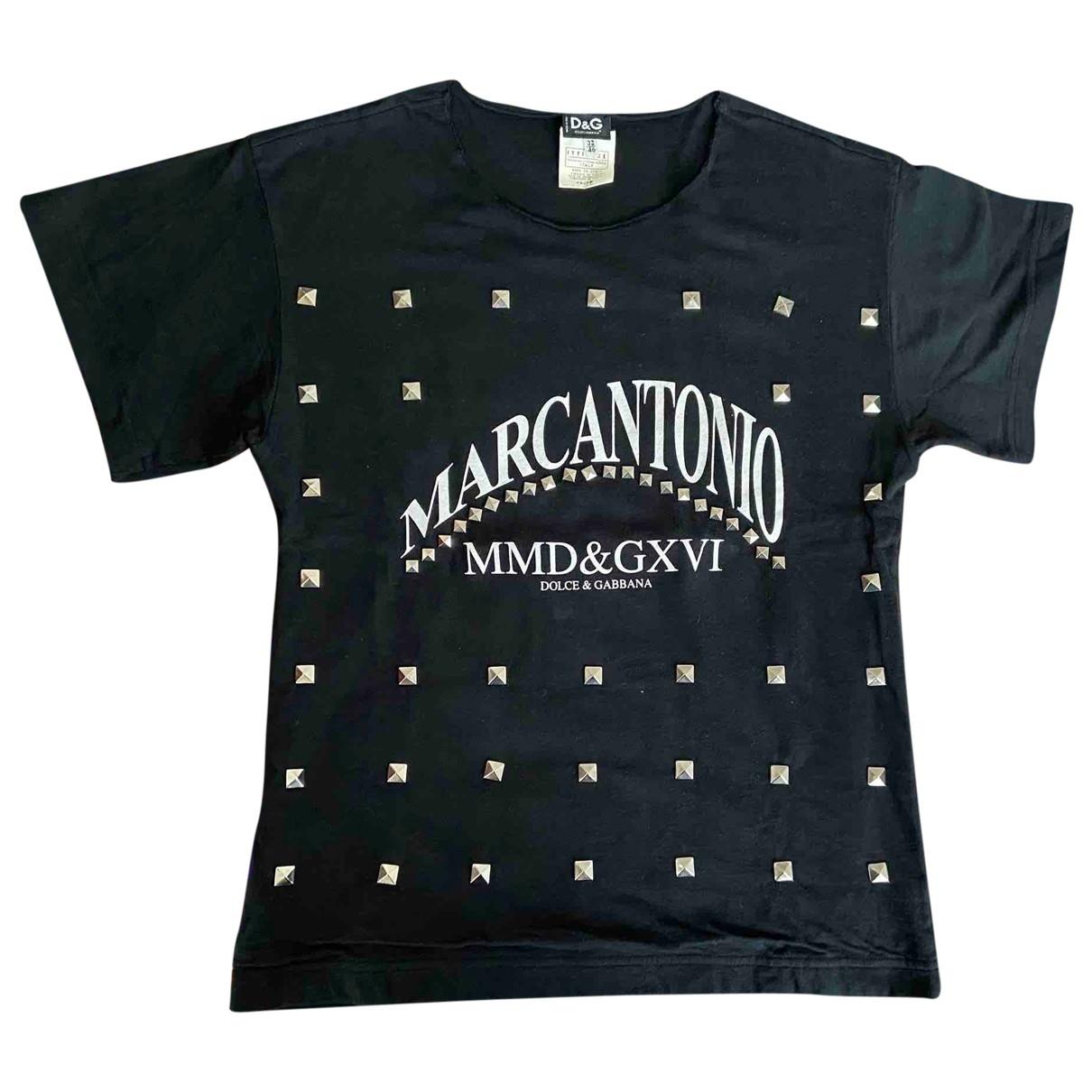 D&g - Tee shirts   pour homme en coton - noir